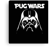 Pug Wars Funny Parody Dog Canvas Print