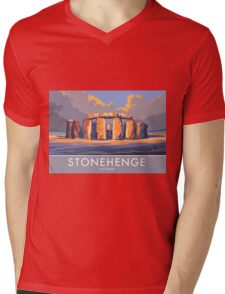 Stonehenge, Wiltshire Mens V-Neck T-Shirt