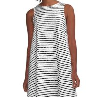 Thin Horizontal Stripe Dress A-Line Dress