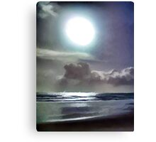 Clouds above the Silver Beach Canvas Print