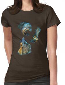 Blue Siamese Betta Fish Womens Fitted T-Shirt