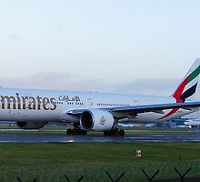 Emirates 777-300 at Manchester Airport by PlaneMad1997