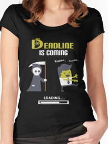 Deadline is coming Women's Fitted Scoop T-Shirt
