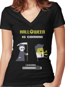 Halloween is coming Women's Fitted V-Neck T-Shirt