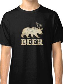 Vintage Bear Deer Beer T-shirt Classic T-Shirt