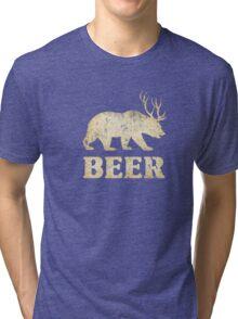 Vintage Bear Deer Beer T-shirt Tri-blend T-Shirt