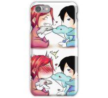 Dolphin kiss - RinHaru iPhone Case/Skin