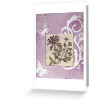 Lavender Gift Box With Botanical Window Greeting Card