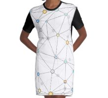 Cryptocurrency Graphic T-Shirt Dress