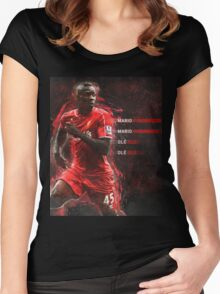 Mario Balotelli  Women's Fitted Scoop T-Shirt