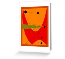 Mid-Century Modern Abstract in Orange Greeting Card