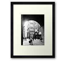 London alley Framed Print