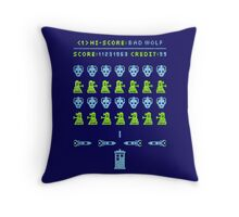 Dr Who: Space Invader Throw Pillow