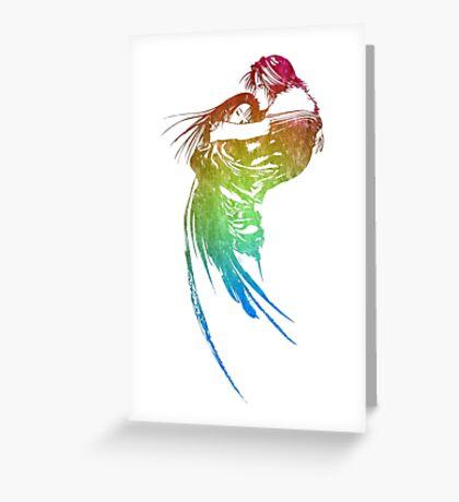 °FINAL FANTASY° Final Fantasy VIII Rainbow Logo Greeting Card