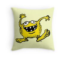 Cute Cartoon Yellow Monster by Cheerful Madness!! Throw Pillow