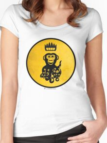 King Octochimp Says Hi Women's Fitted Scoop T-Shirt