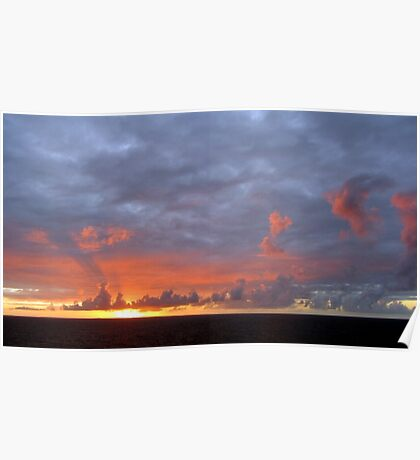 Amazing Sunset Clouds Poster