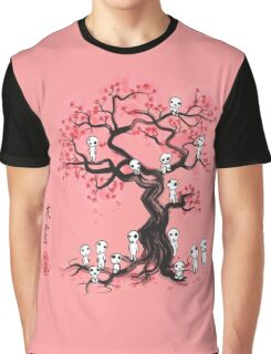 Forest Spirits Sumi-e Graphic T-Shirt