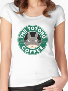 The Anime Coffee Women's Fitted Scoop T-Shirt