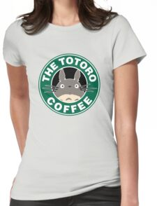 The Anime Coffee Womens Fitted T-Shirt