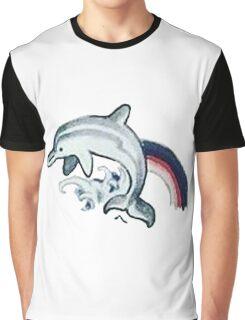 Dolphin Tattoo Graphic T-Shirt