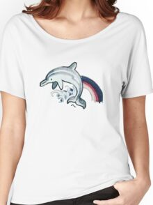 Dolphin Tattoo Women's Relaxed Fit T-Shirt