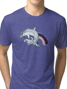 Dolphin Tattoo Tri-blend T-Shirt