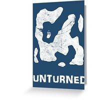 Unturned Map  Greeting Card
