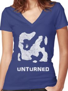 Unturned Map  Women's Fitted V-Neck T-Shirt