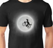 Moon Biking Dinosaur Unisex T-Shirt