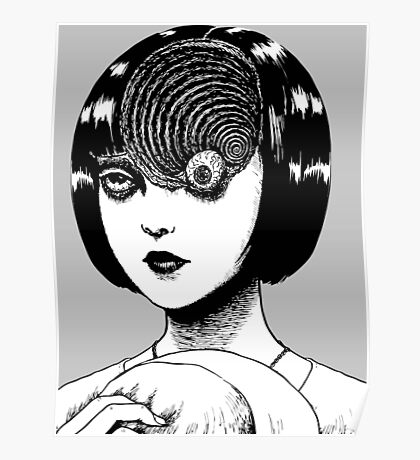 Woman With Special Eyeball Poster
