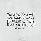 Ralph Waldo Emerson: Beautiful by Leah Flores