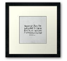 Ralph Waldo Emerson: Beautiful Framed Print