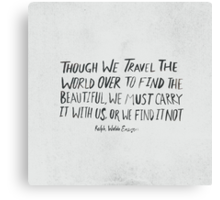 Ralph Waldo Emerson: Beautiful Canvas Print