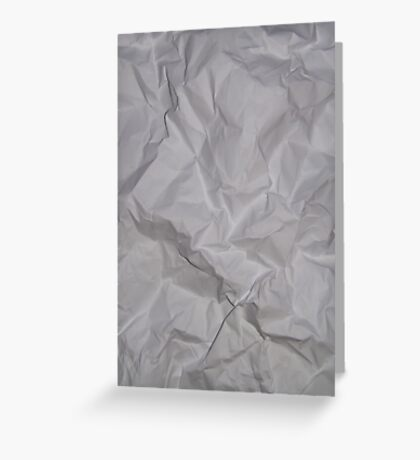 CRUMPLED PAPER (Textures) Greeting Card