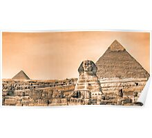 Well Worn Roads - Egyptian Sphinx Panorama Poster