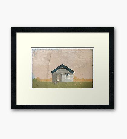 Frankfort Building Illustration Framed Print