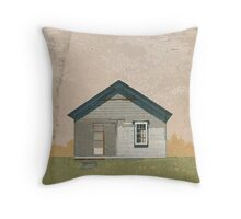 Frankfort Building Illustration Throw Pillow