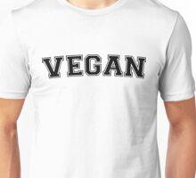 Vegan Varsity (Black) Unisex T-Shirt