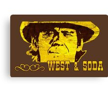 Western West and Soda Canvas Print