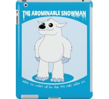 The Abominable Snowman  iPad Case/Skin