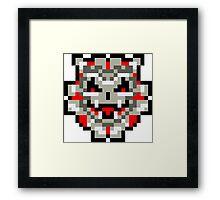 Pixel Sinistar Framed Print