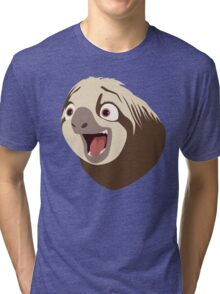 Sloth flash Tri-blend T-Shirt