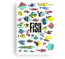 fish of the eighties Canvas Print