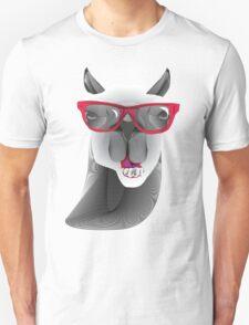 Hipster Llama Design Unisex T-Shirt