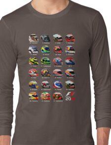 Formula 1 2016 drivers helmets all Long Sleeve T-Shirt