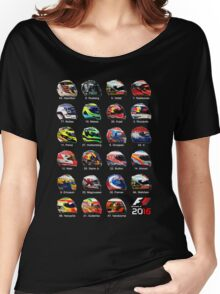 Formula 1 2016 drivers helmets all Women's Relaxed Fit T-Shirt