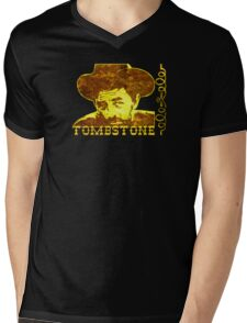 Western Tombstone Mens V-Neck T-Shirt