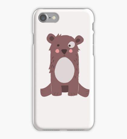 Cute brown bear iPhone Case/Skin