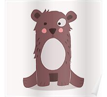 Cute brown bear Poster